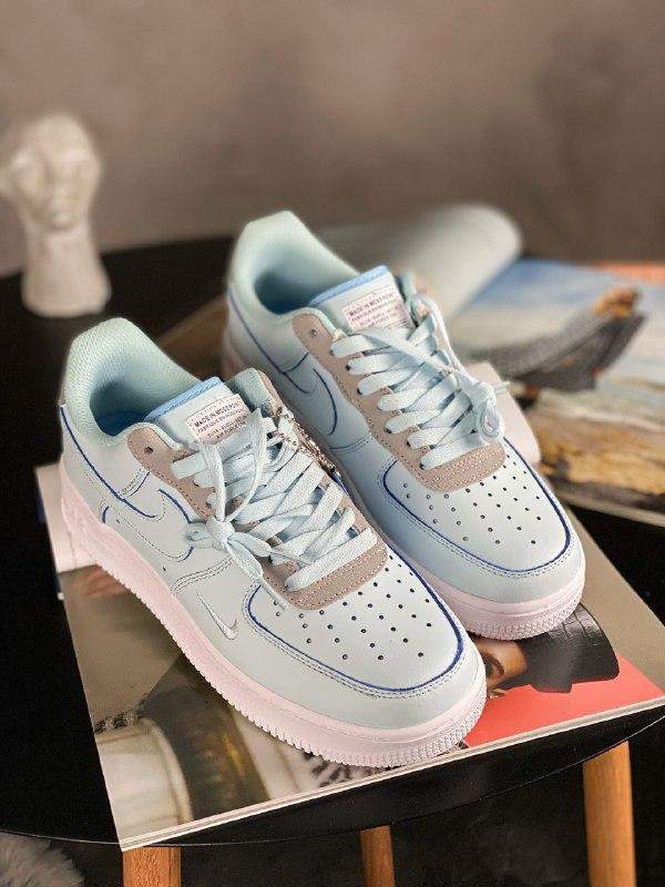 Шикарные женские кроссовки nike air force 1 low mint white