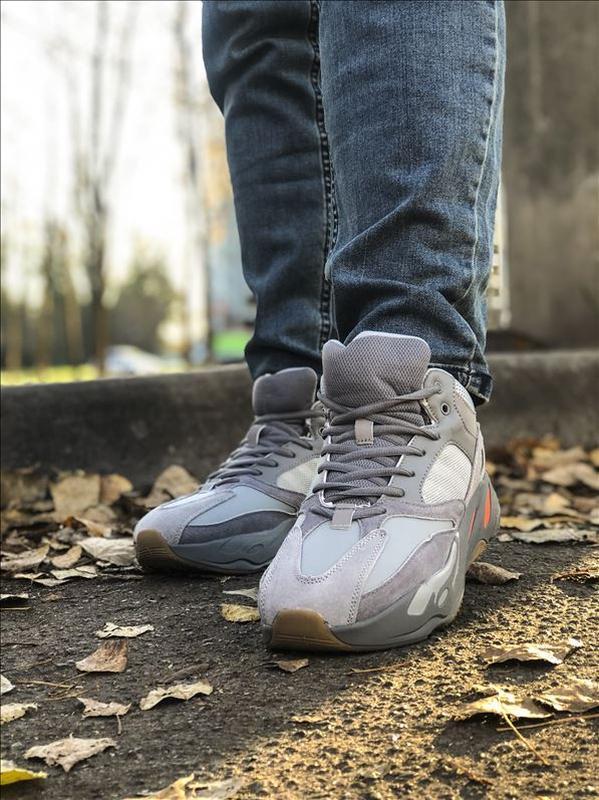 Шикарные мужские зимние кроссовки adidas yeezy boost 700 winter - Фото 3