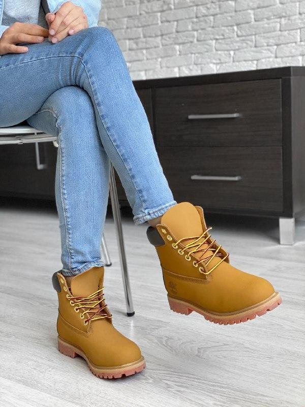 Шикарные женские зимние ботинки timberland - Фото 2
