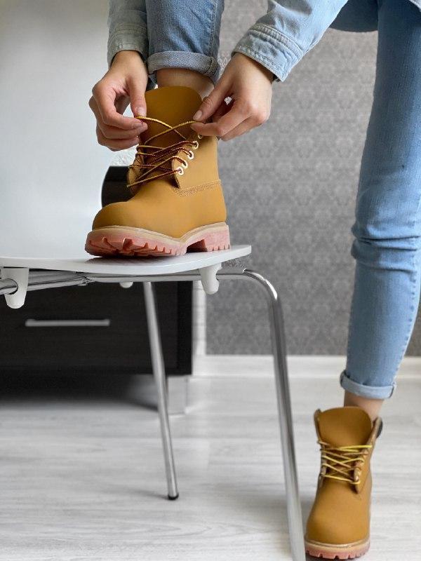 Шикарные женские зимние ботинки timberland - Фото 3