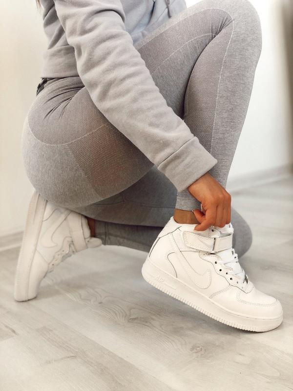 Шикарные женские зимние кроссовки nike aur force 1 high white ...