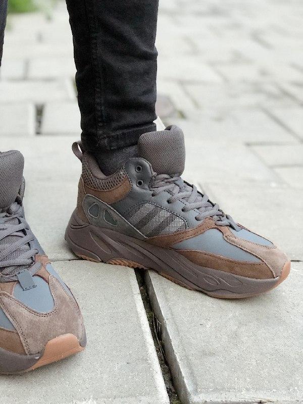 Шикарные мужские зимние кроссовки adidas yeezy boost 700 winter - Фото 2