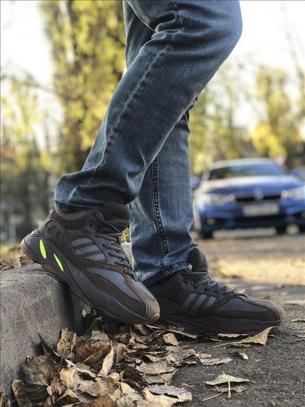 Шикарные мужские зимние кроссовки adidas yeezy boost 700 winter