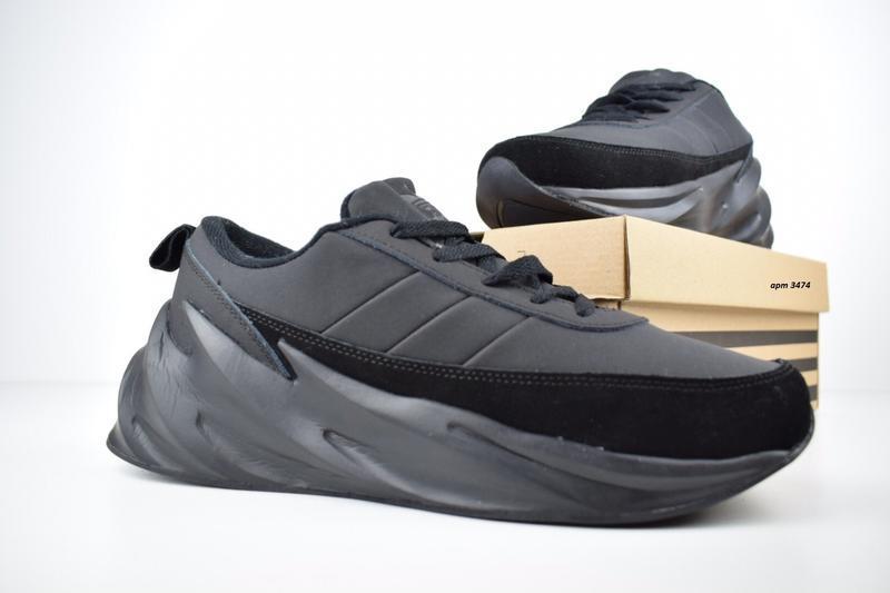 Шикарные мужские зимние кроссовки adidas sharks на меху - Фото 4