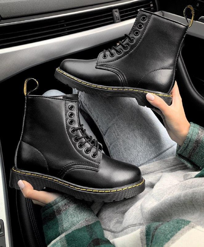 Шикарные женские зимние ботинки dr.martens  1460 bex