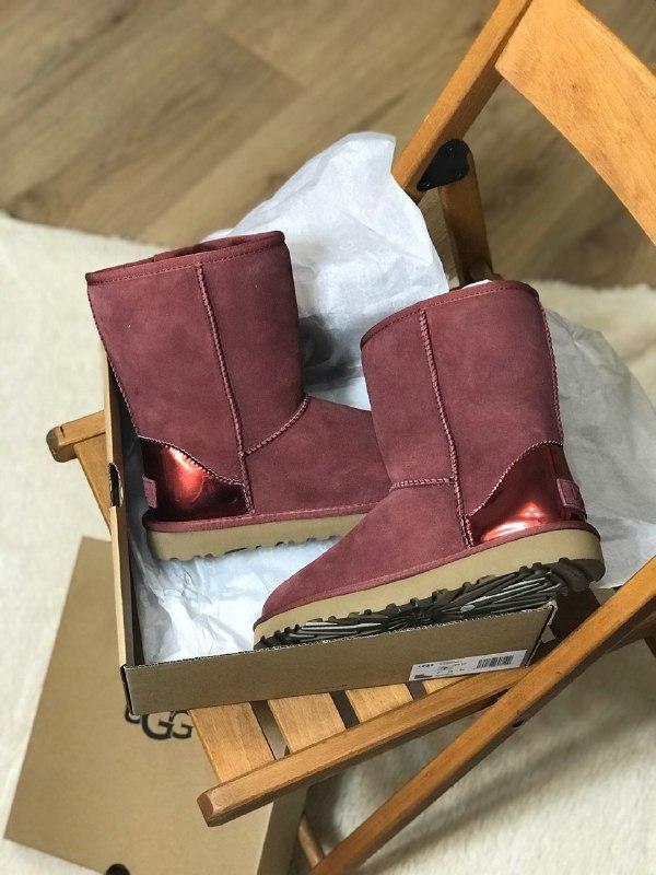 Шикарные женские зимние ботинки угги ugg classic short ii boot...