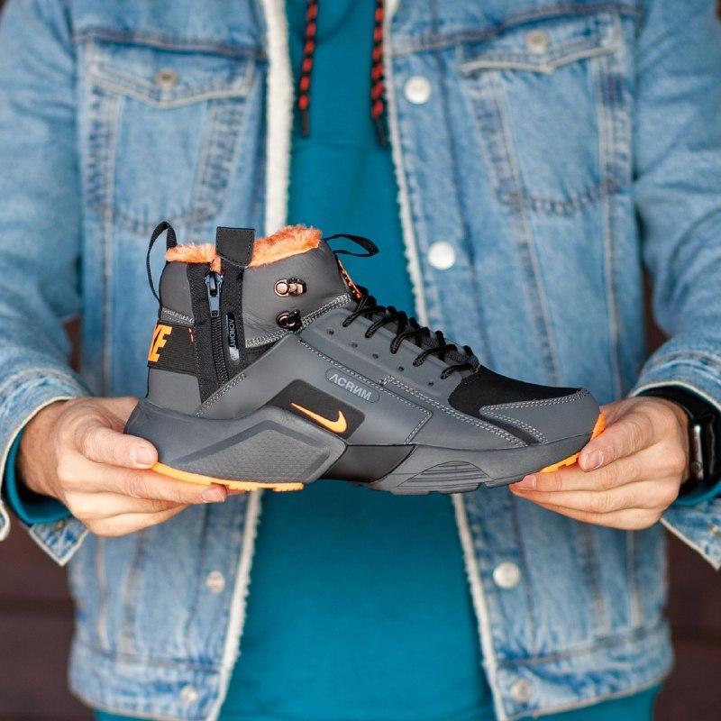 Шикарные мужские зимние кроссовки  с мехом  nike air huarache ... - Фото 2
