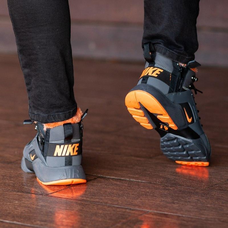 Шикарные мужские зимние кроссовки  с мехом  nike air huarache ... - Фото 4