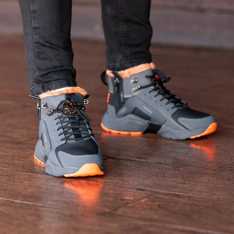 Шикарные мужские зимние кроссовки  с мехом  nike air huarache ... - Фото 5