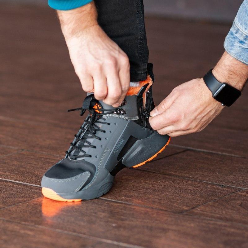 Шикарные мужские зимние кроссовки  с мехом  nike air huarache ... - Фото 6