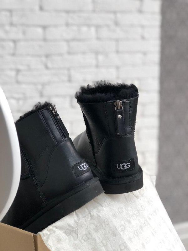 Шикарные женские зимние угги ugg ugg classic zip mini - Фото 3