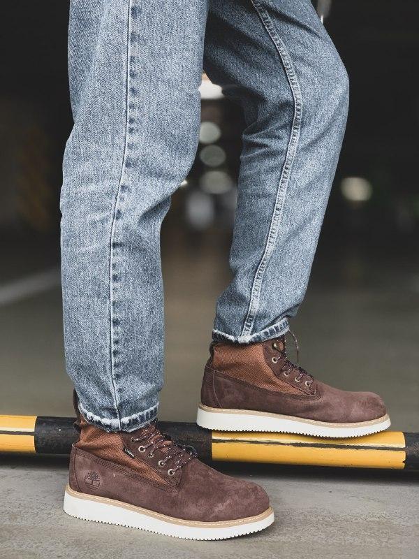Шикарные мужские зимние ботинки timberland brown