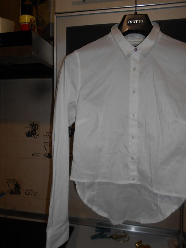 #tommy hilfiger# стильная белоснежная стрейчевая рубашка# шри-... - Фото 6