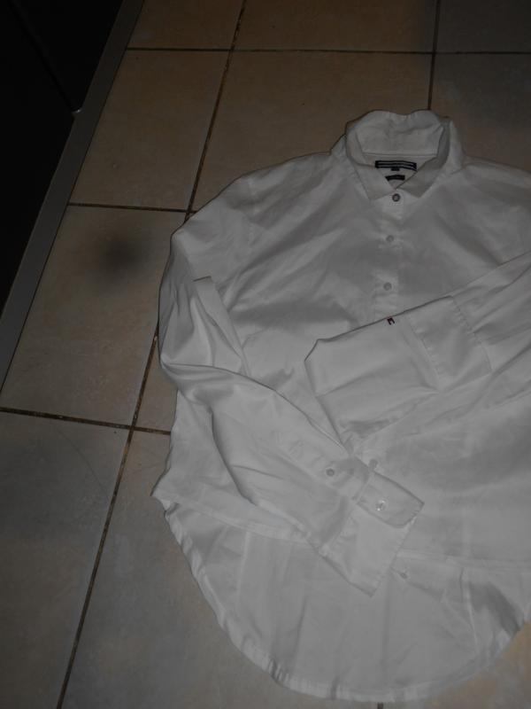 #tommy hilfiger# стильная белоснежная стрейчевая рубашка# шри-... - Фото 8