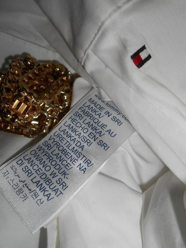 #tommy hilfiger# стильная белоснежная стрейчевая рубашка# шри-... - Фото 9