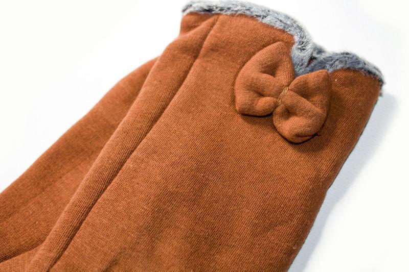 Перчатки стрейч на меху, разные размеры - Фото 3