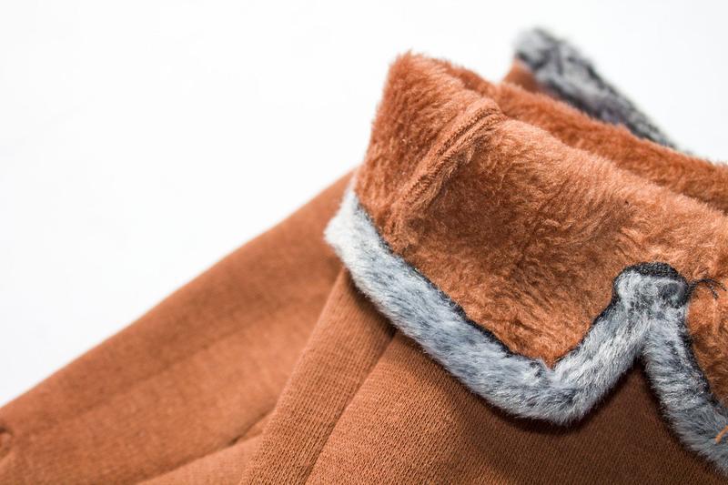 Перчатки стрейч на меху, разные размеры - Фото 4