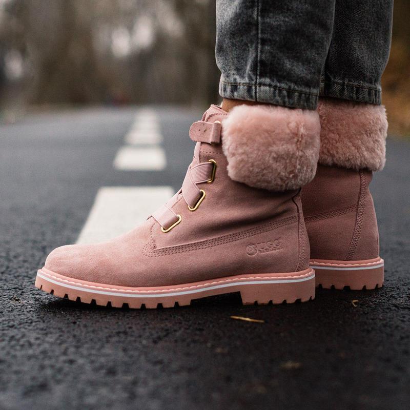Ugg boot fur pink! женские зимние сапоги/ ботинки/ луноходы/  ...