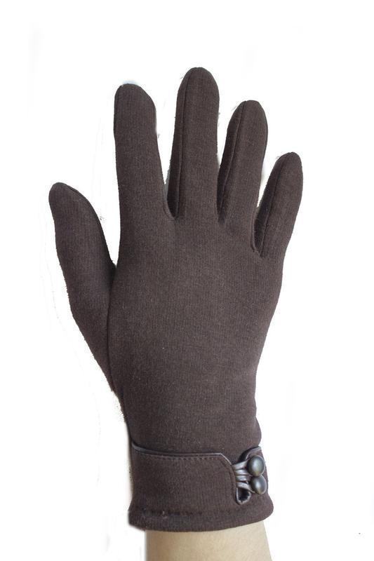Перчатки трикотажные  на плюше, разные размеры