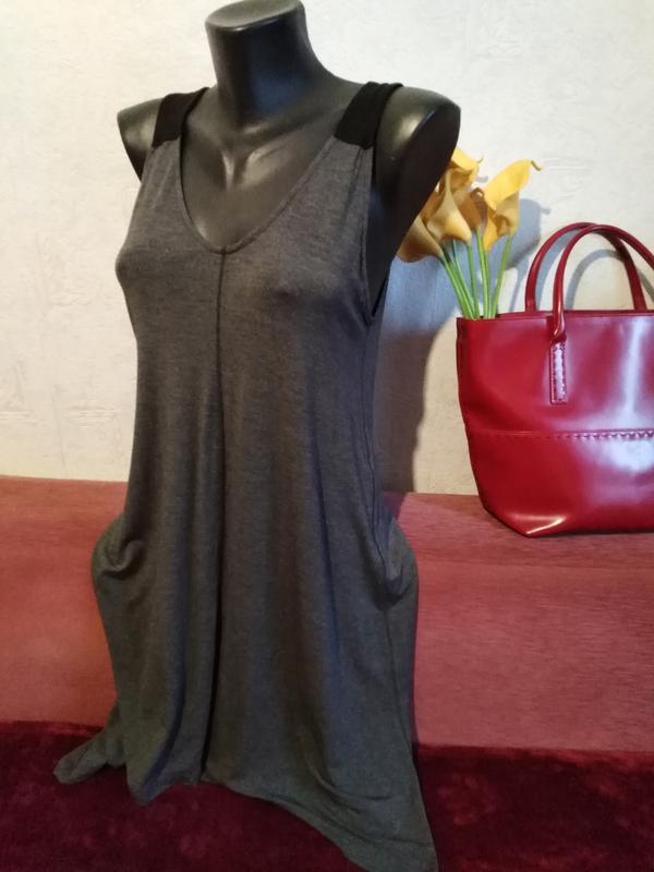 Donna karan, дизайнерское трикотажное 👗 платье