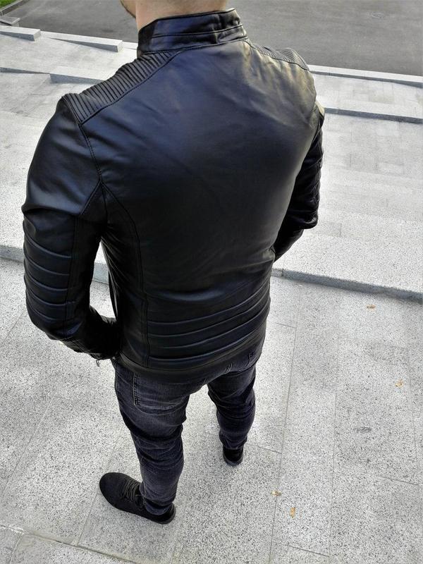 Куртка шкірянка ww2703 - Фото 3