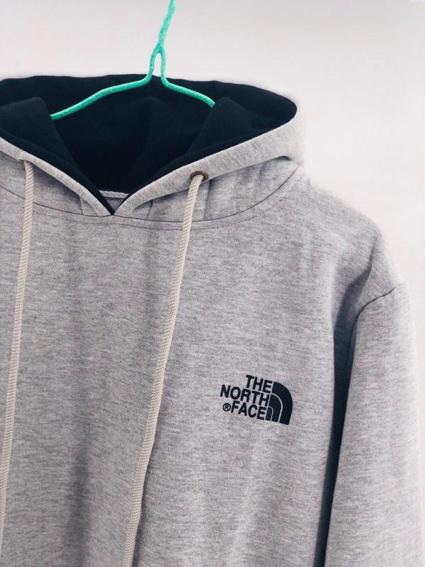 Худі the north face (лого - принт капішон)
