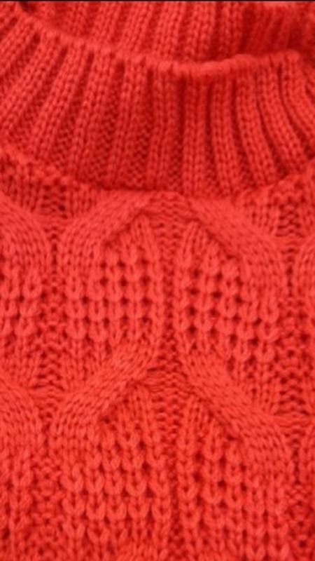 В'язаний светр червоний - Фото 3