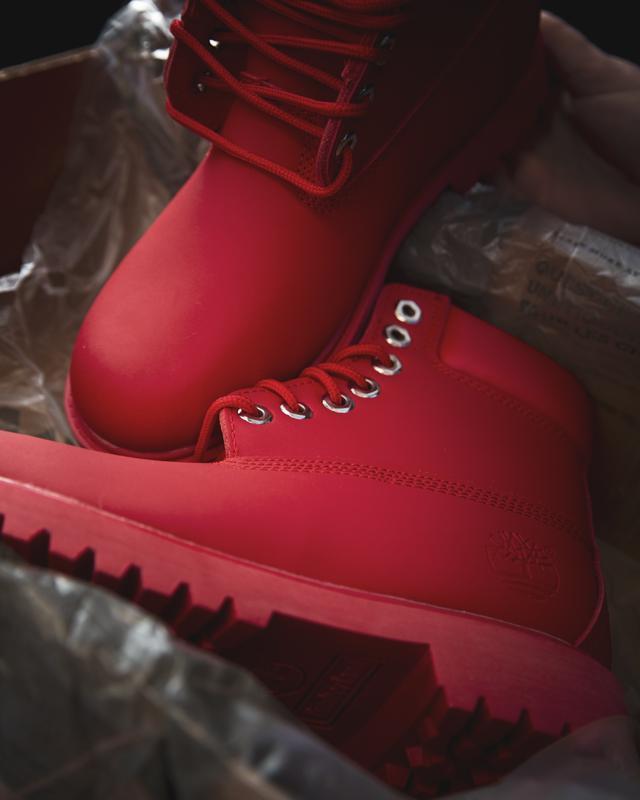 Зимові термоботінки timberland red