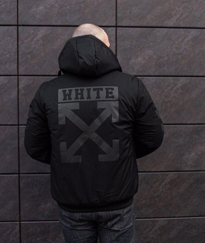 Зимова куртка off white - Фото 3