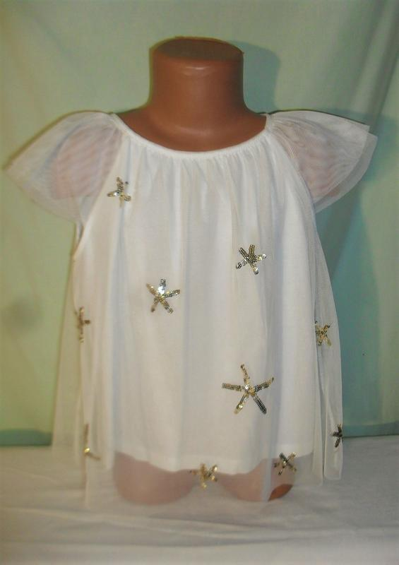Нарядная блузка на 5-6лет