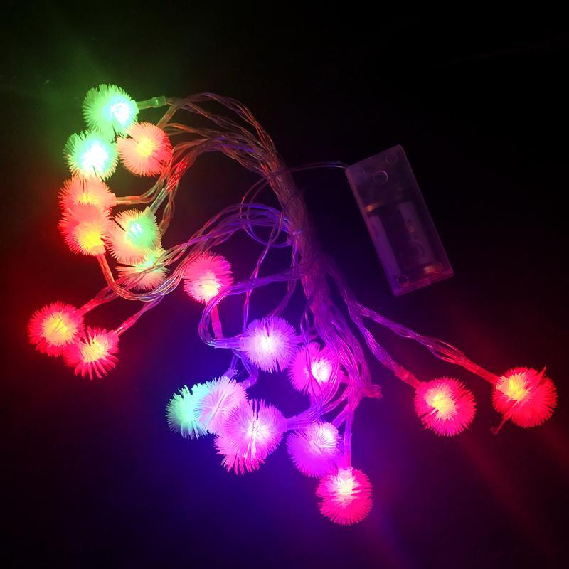 Гірлянда на батарейках 5м 20 LED мульті