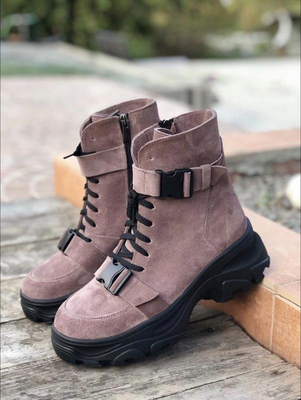Хит 2020♥️🖤 женские кожаные зимние ботинки
