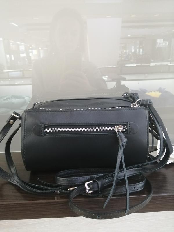 Кожаная сумка бочонок италия цвет черный