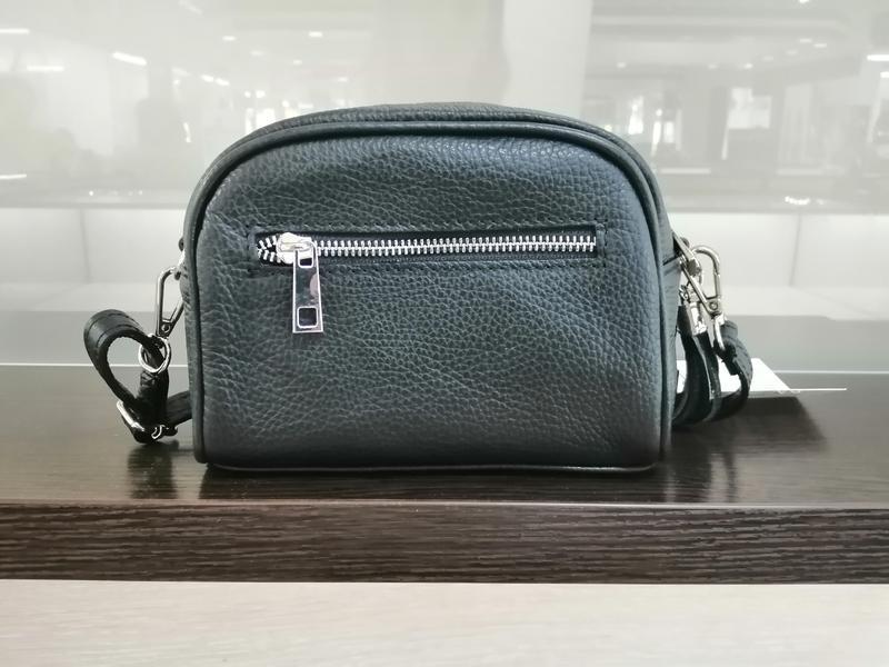 Кожаная сумка кросс-боди италия чёрного цвета