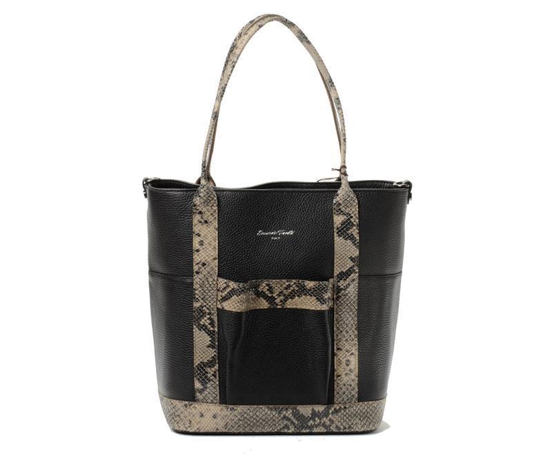 Кожаная итальянская сумка со змеей