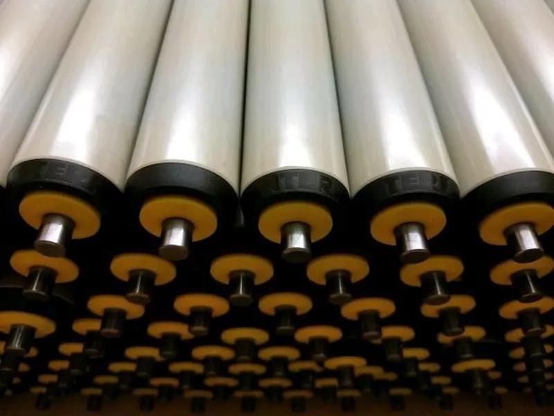 Ролики конвейерні пластикові L460 мм