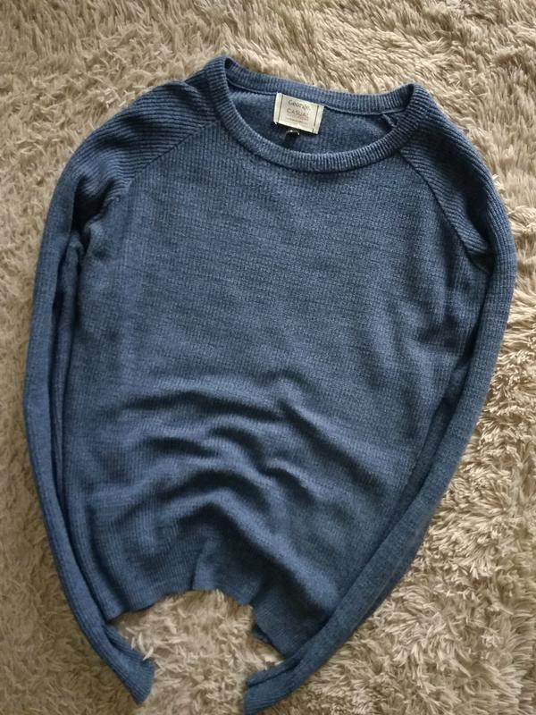 Стильний, натуральний свитер,в синем цвете от george,p.m