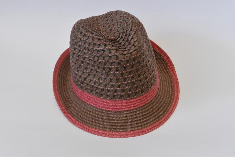 13-156 шляпа женская летняя от солнца шляпка панамка пляжная - Фото 4