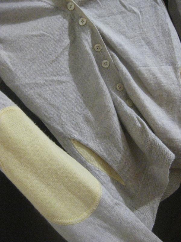 Джемпер кофта herringbone шерсть италия серый на пуговицах
