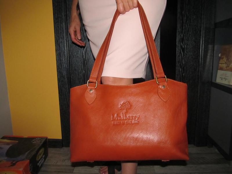 Брендовая кожаная сумка mulberry. оригинал