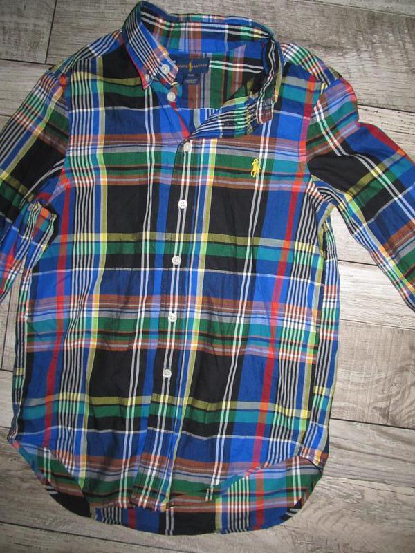 Рубашка ralph lauren оригинал, мальчик 8-9 лет, рост 122-134