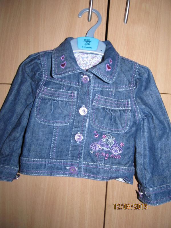 Джинсовая куртка для малышки от blue moon 6-12 мес