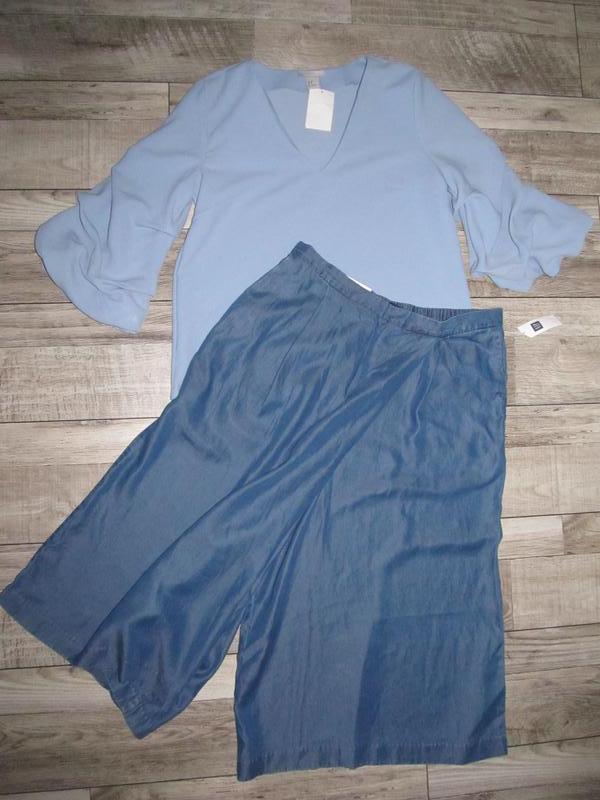 Шикарные брюки кюлоты из денима gap р. м