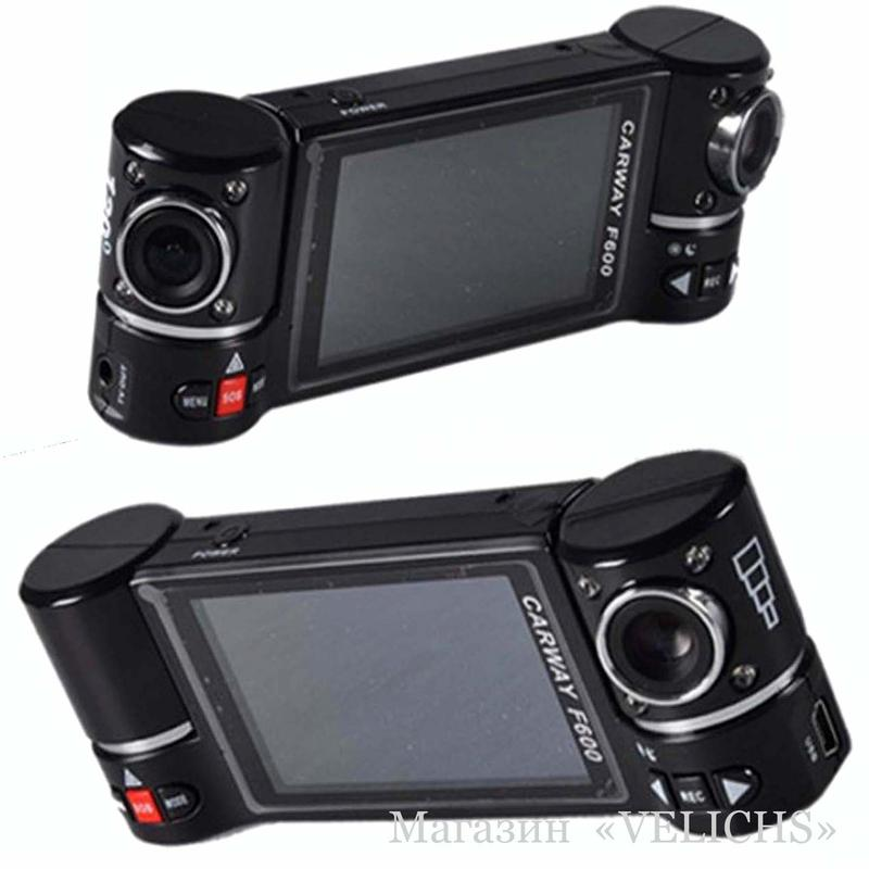 Видеорегистратор CARWAY F600 2 камеры ночная съёмка режим SOS - Фото 3