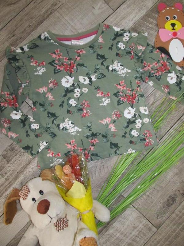 Стильный свитшот с цветочным  принтом  e-vie на 5лет