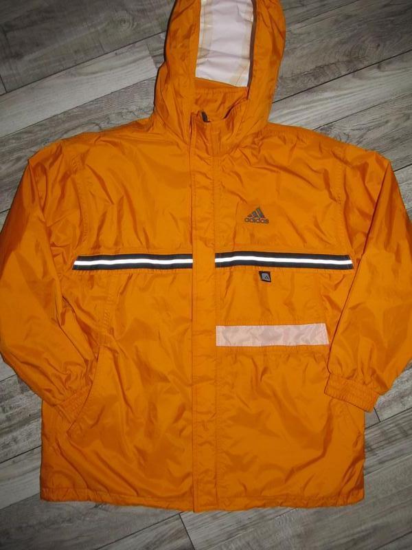 Куртка ветровка дождевик adidas  рост 152 см - смотрите замеры