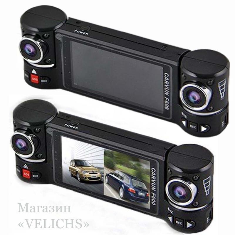 Видеорегистратор CARWAY F600 2 камеры ночная съёмка режим SOS - Фото 9