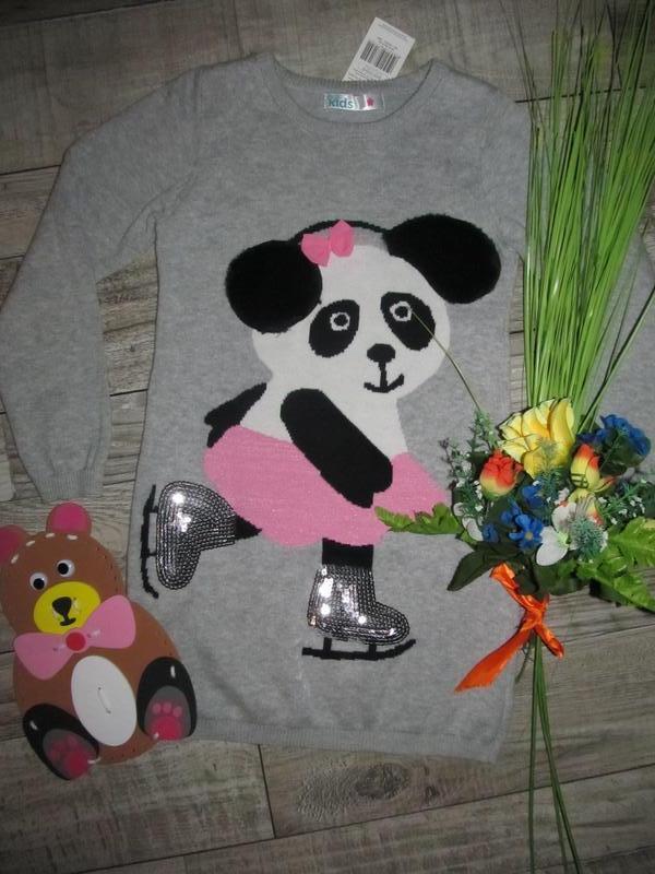 Милое платье туника  m&co с блестками пайетками 4-5 лет