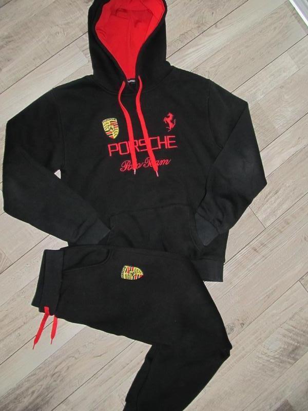 Теплый спортивный костюм porsche на 12-13 лет