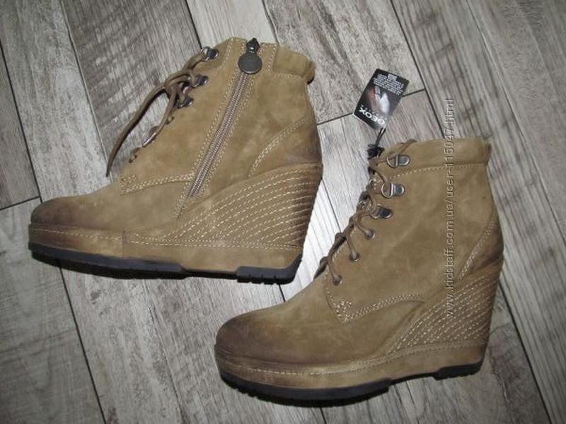 Натуральный замш ботинки geox donna armonia stiv   р. 37   сте...